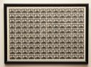 Complete framed sheet of 1954 3½d Black Western Australia Postage Stamp Centenary stamps